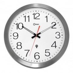 Nástenné hodiny vodeodolné 35cm strieborné