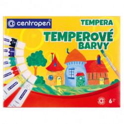 Temperové farby Centropen 6 farieb 12ml