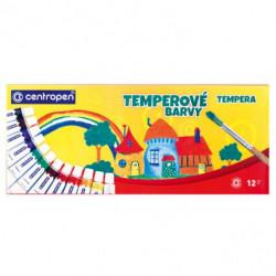 Temperové farby Centropen 12 farieb 12ml