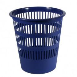 Kôš plastový rebrovaný 12l modrý
