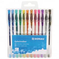 Gélové perá metalické Donau 12 farieb