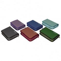 Peračník 1-zipsový 2-klopý plný mix farieb