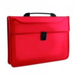 Aktovka plastová s držadlom DONAU červená