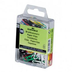 Spisové spony DURABLE 26mm potiahnuté plastom farebné 100ks