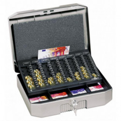 Euro-pokladnička DURABLE EUROBOXX 352x120x276mm strieborná