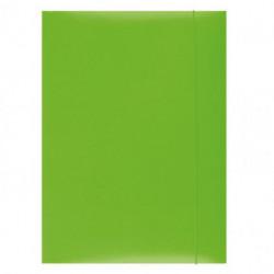 Kartónový obal s gumičkou Office Products zelený