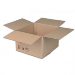 Škatuľa s klopou + recyklačné znaky 289x189x92mm