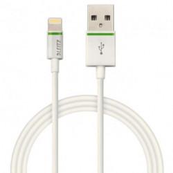 Kábel USB Leitz Complete Lightning 1m biely