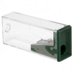 Strúhadlo Faber Castell s plastovým boxom zelené