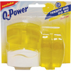 Q-Power WC záves gél 3 x 55ml Citrón