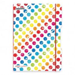 Zošit Herlitz my.book Flex Smiley World Rainbow A4 2x40listov linajkový štvorčekový PP