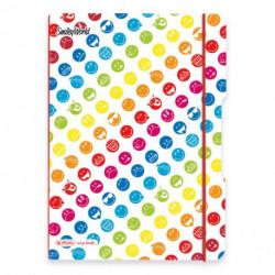 Zošit Herlitz my.book Flex Smiley World Rainbow A5 40listov štvorčekový PP