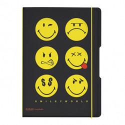 Zošit Herlitz my.book Flex Smiley World Black A5 40listov štvorčekový PP