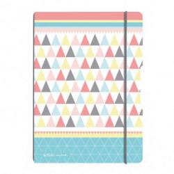 Zošit my.book Flex Graphic Pastels trojuholníky A4 2x40listov linajkový. štvorčekový PP