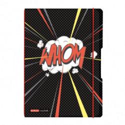 Zošit my.book Flex Comic A4 2x40listov linajkový štvorčekový PP