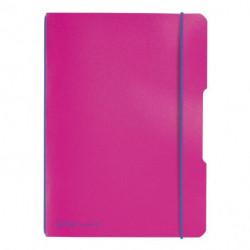 Zošit Herlitz my.book Flex A5 40listov štvorčekový PP ružový