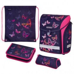 Školská taška Herlitz Midi Dúhové motýle sada