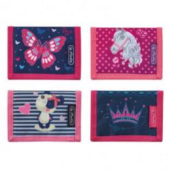 Peňaženka Herlitz 11,5x8x2cm mix Motýľ Kôň Panda Korunka