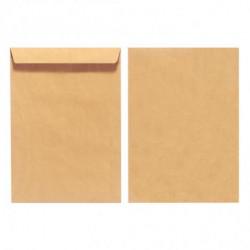 Poštové obálky C4 Herlitz olizové, hnedé, recyklované, 10 ks