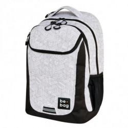 Školský batoh be.bag 31x22x46cm objem 27l Čiernobiele tvary