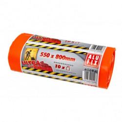 Vrecia na ťažký odpad 60l 60mic. 550x800mm 10ks oranžové