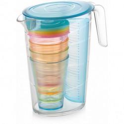 Džbán myDRINK 2,5l a 4 poháre, modrá
