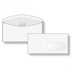 Poštové obálky C6/C5 olizové okienko vpravo vnútorná potlač, pre strojné spracovanie