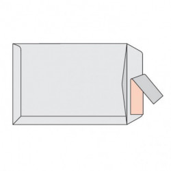 Poštové obálky B4 s páskou, biele, 250ks