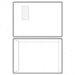 Poštové obálky C4 s páskou, okienko, 500 ks
