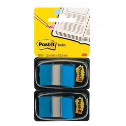 Záložky Post-it Index široké 25x43 modrá 2ks