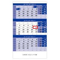 Trojmesačný kalendár modrý...