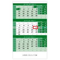Trojmesačný kalendár zelený...