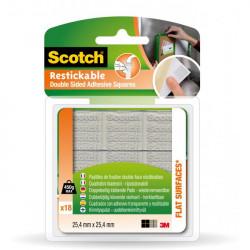 Lepiace štvorce Scotch opakovane použiteľné 25,4x25,4mm 18ks