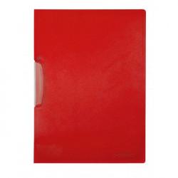 Obal s klipom plastovým Q-Connect červený
