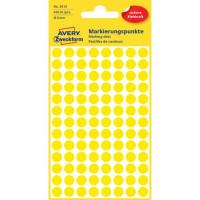 Etikety kruhové 8mm Avery žlté