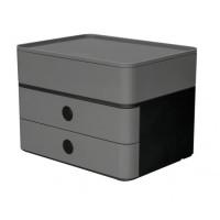 Zásuvkový box ALLISON sivý
