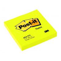 Bloček Post-it 76x76 neón žltý