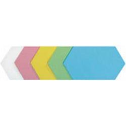 Moderačné šesťuholníky 16,5x30 cm mix 100 ks