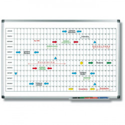 Plánovacia tabuľa ročná PREMIUM horizontálna 60x90 cm